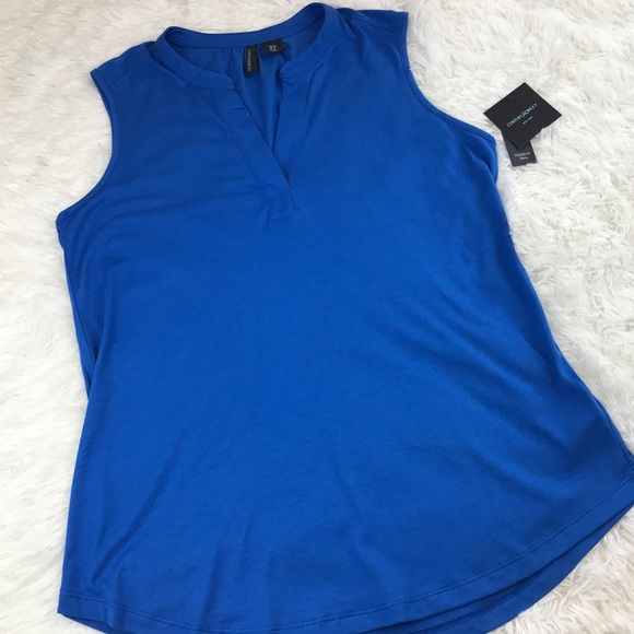 Cynthia Rowley Tops - NWT Cynthia Rowley Royal Blue Sleeveless Blouse